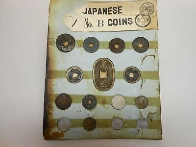 Japanese Coins No. B Set of 15 Coins - Complete