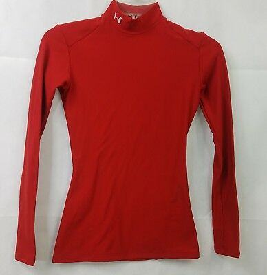 Under Armour Turtleneck Red Coldgear Compression Base Layer Fitted Womens Sz S