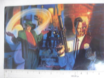 DC Comics BATMAN promotional giveaway RIDDLER / TWO FACE 1995 mini poster VGC.