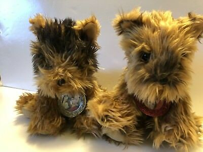 Victorias Secret Limited Edition Max & Lucy Yorkshire Dogs Plush set 2003 Yorkie