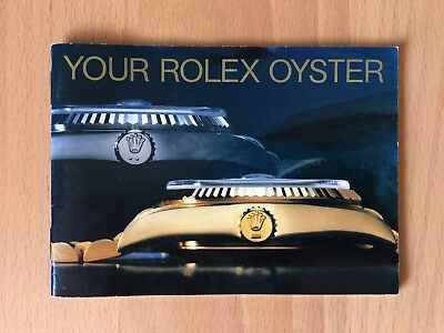 ROLEX   Your Rolex Oyster  booklet   579.52 Eng - 150 - 8.1988   english  Heft