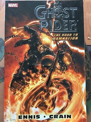 Ghost Rider Marvel Comic Book The Road To Damnation Ennis Crain