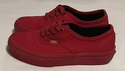 Youth Vans Authentic Red Size 13