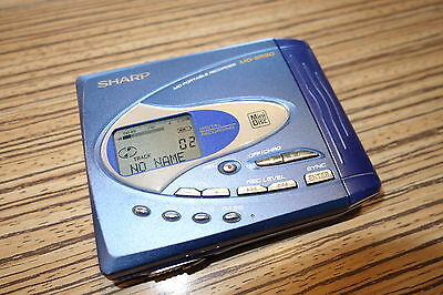 Sharp  SR50 Blau MD Player Recorder Minidisc. + Mikro Zugang (143)