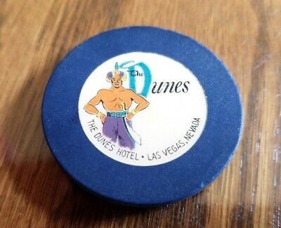 THE DUNES GENIE CASINO CHIP OLD VINTAGE CASINO CHIP from 50's? 60's?