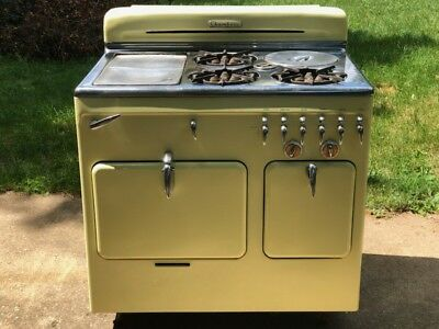 Unique Vintage Chambers Gas Stove yellow