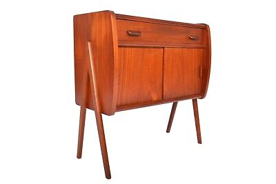 Danish Modern Mid Century Atomic V-Leg Teak Entry Chest