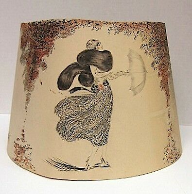 "Fabulous Art Deco 1920s ICART Style Paper Lamp Shade~""Four Seasons"""