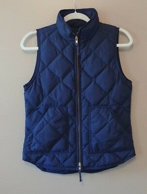 Women's J.Crew Excursion Quilted Vest Jacket in Navy Blue Size XS
