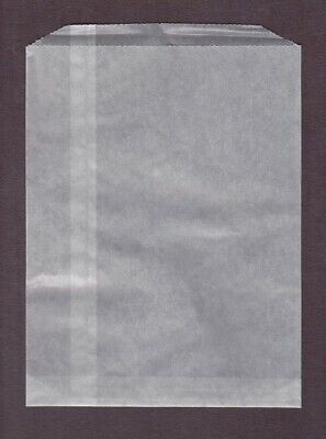 Glassine Bags #6 9 1/2 X 12 1/2 Pack of 100 Open Top High Quality Stamp Bags New