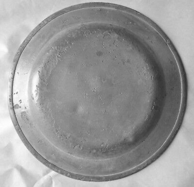 18th C. Plain Rimmed Pewter Plate