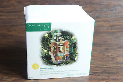 New Department 56 Christmas in the City Dorothy's Dress Shop Lit Ornament #98770
