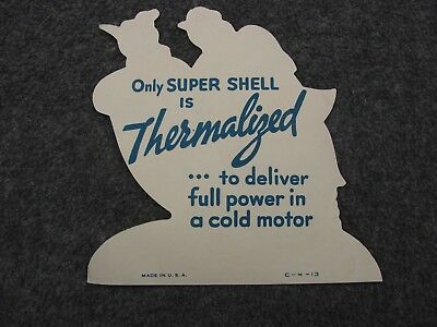 Super Shell Thermalized Small Paper Gas/oil Advertisement