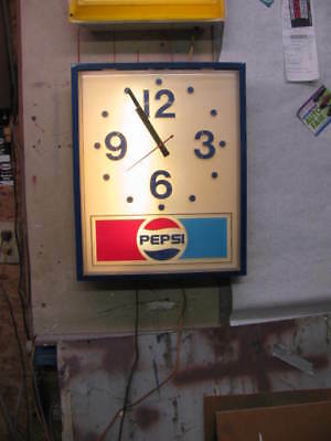 Pepsi Cola Electric Clock from the 1980s