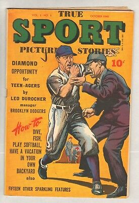True Sport Picture Stories v3 #3 (#27) (VG/FN) (1945, Street & Smith)