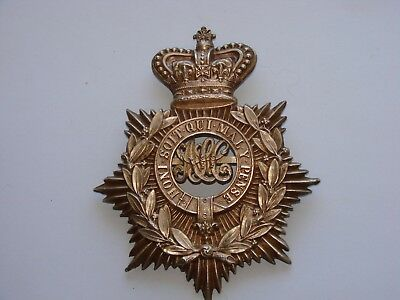 ORIGINAL British Helmet Plate The Royal Army Service Corps  c.1878-1881