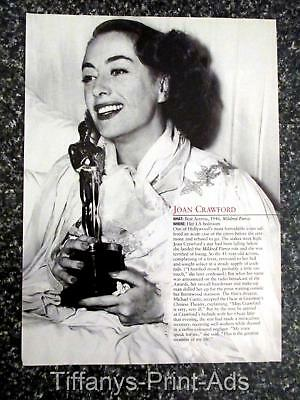 JOAN CRAWFORD accepting a award  c1946 * 1 page Magazine CLIPPINGS  Photo *