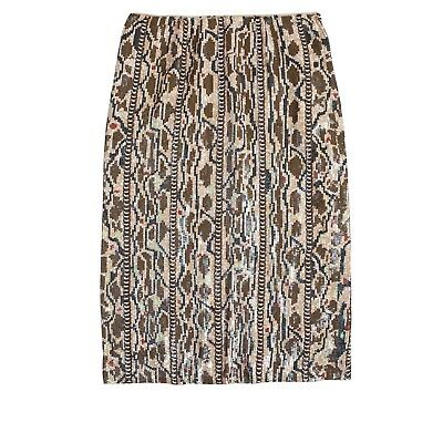 NWT, JCREW Collection holographic snake print skirt, Size 0