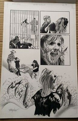 Vampirella Monthly 6, page 7 - Mike Mayhew - original comic art - 2002