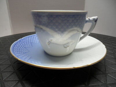 Vintage Bing & Grondahl Seagull Cup And Saucer, Denmark #102