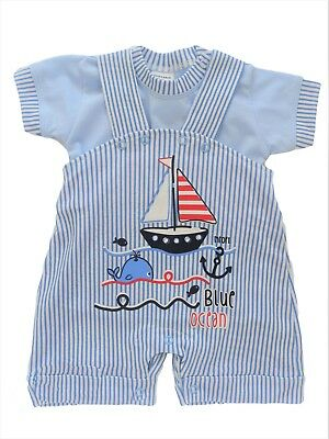 BNWT Baby Toddler Boys Outfit Set T-shirt  & DUNGAREES 100%Cotton 0-3 Months