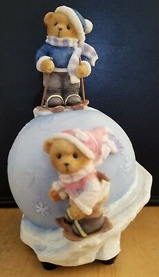 RARE Cherished Teddies - Avon Exclusive - Havin' A Snowball Musical - 4004846