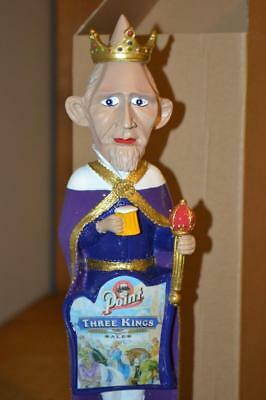 Nib Stevens Point Three Kings Conehead Beer Draft Tap Handle~Very Collectible