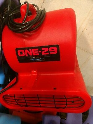 BlueDri® ONE-29 Air Mover Carpet Dryer Blower Floor Fan High CFM Low Amps RED