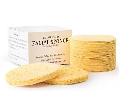 (100 PACK) Natural Compressed Cellulose Facial Sponges (100 PACK) FREE SHIPPING!