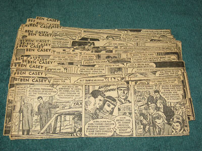 (60) 1963 Consecutive BEN CASEY Comic Strips by NEAL ADAMS Run Complete Batman
