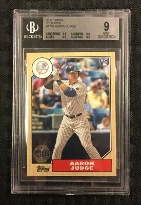 Aaron Judge 2017 Topps  #'8758'87 Topps Rookie Logo Bgs Mint 9 Yankees