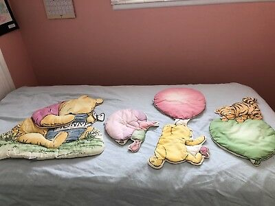 Classic Winnie The Pooh 3D Soft Sculpture Baby Infant Nursery Wall Hanging Decor