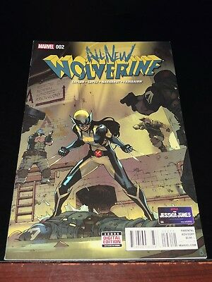 2016 ALL-NEW WOLVERINE #2 1st appear GABBY HONEY BADGER VF Very Fine FIRST print