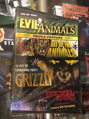 Evil Animals Triple Feature - Grizzly/Day of the Animals/Devil Dog (DVD) NEW!