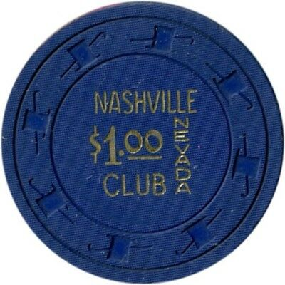 $1.00 Nashville Nevada casino chip, Las Vegas, NV - From 1961