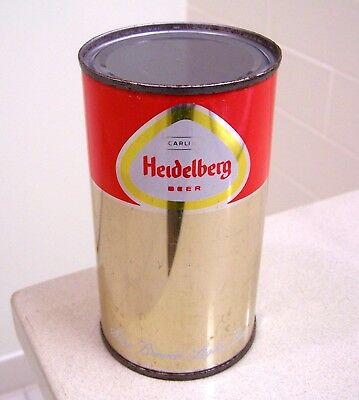 **c. 1960s unlisted? HEIDELBERG flat top beer can from Tacoma, WA