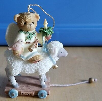 NEW Cherished Teddies Abbey Press Exclusive - 104777 - Angel On Sheep Ornament