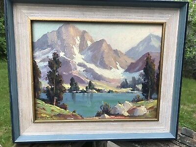 Lake Mountains Landscape Painting California Artist Oliver Glen Barrett