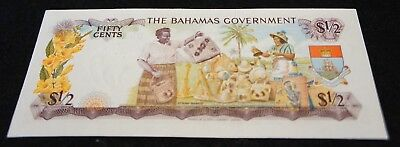 1965 Bahamas 1/2 Dollar Note in UNC Condition Very NICE Note!