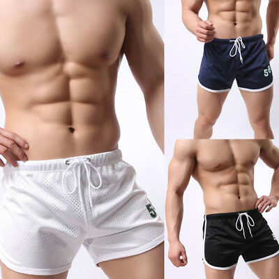 Mens Summer Breathable Shorts Gym Sports Rugby Running Sleep Casual Short Pants
