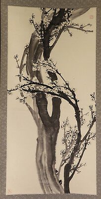 "CHINESE HANGING SCROLL ART Painting ""Plum blossoms""  #E2948"