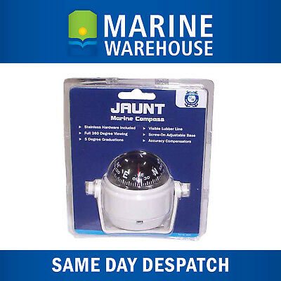 Marine Compass 55mm Black - 360 Degree Viewing W/ SS Mounting 8372W
