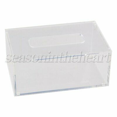 196x126x84mm Tissue Box Paper Cover Napkin Case Home Clear Acrylic Rectangle