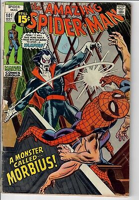 Amazing Spider-Man Marvel Bronze Age 1971 #101 Key 1st appearance of Morbius NR