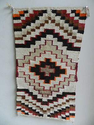 """Outstanding Vintage Small Very Fine Navajo Rug, 11""""x19"""", From Oregon Estate, NR!"""