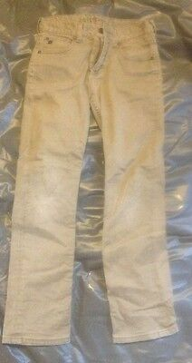 EUC Boys Quicksilver Straight Fit Beige Tan Pants Size 26
