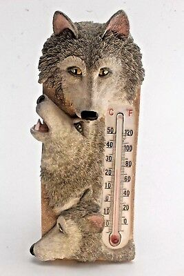 3 Dimensional Wolf Thermometer.