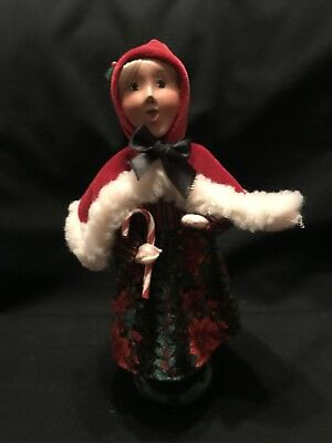 Byers Choice Caroler Woman Red Hood Girl with Candy Canes
