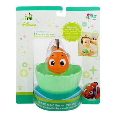 Disney Finding Nemo Bath Tub Nest/Stack Pour Cups Shower Water Toys/Kids/Toddler