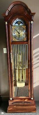 GORGEOUS Tubular Grandfather clock 9 Tubes Triple chime Engraved weight/pendulum